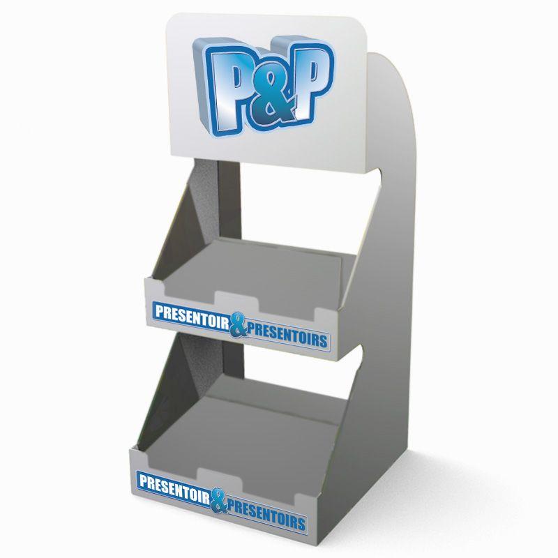 Etagère de comptoir DPLX personnalisée aux couleurs de P&p