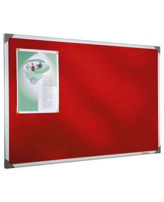 Tableau Post-it 90 x 120 cm cadre alu fond rouge