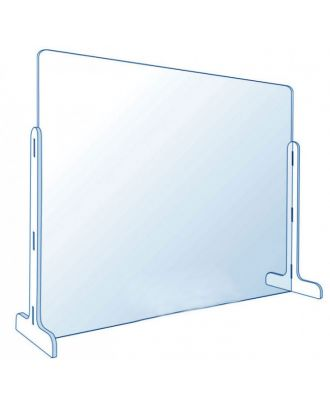 Vitre de protection en plexiglas pour comptoir 75 x 50 cm