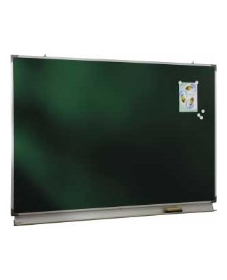 Tableau d'écriture émaillé vert NF 120 x 400 cm