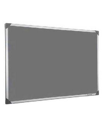 Tableau en feutrine grise 90 x 120 cm cadre alu
