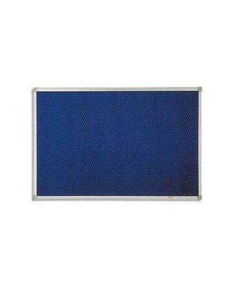 Tableau Post-it 90 x 120 cm cadre alu fond bleu