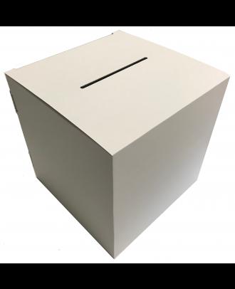 Urne carton blanche vierge 30 x 30 x 30 cm